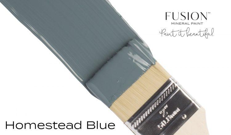 Fusion Mineral Paint Brushstroke - Homestead Blue | www.raggedy-bits.com
