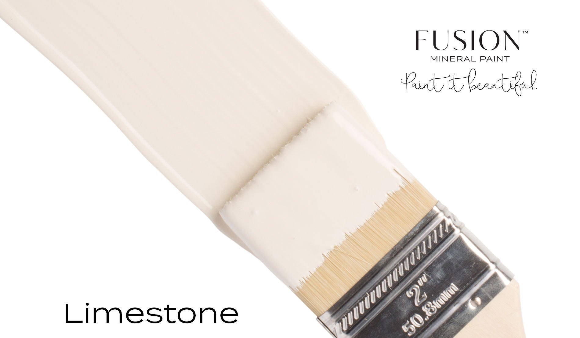 Fusion Mineral Paint Brushstroke - Limestone | www.raggedy-bits.com