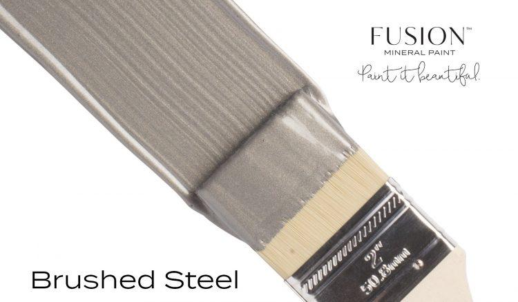 Fusion Mineral Paint Brushstroke - Metallic Brushed Steel | www.raggedy-bits.com