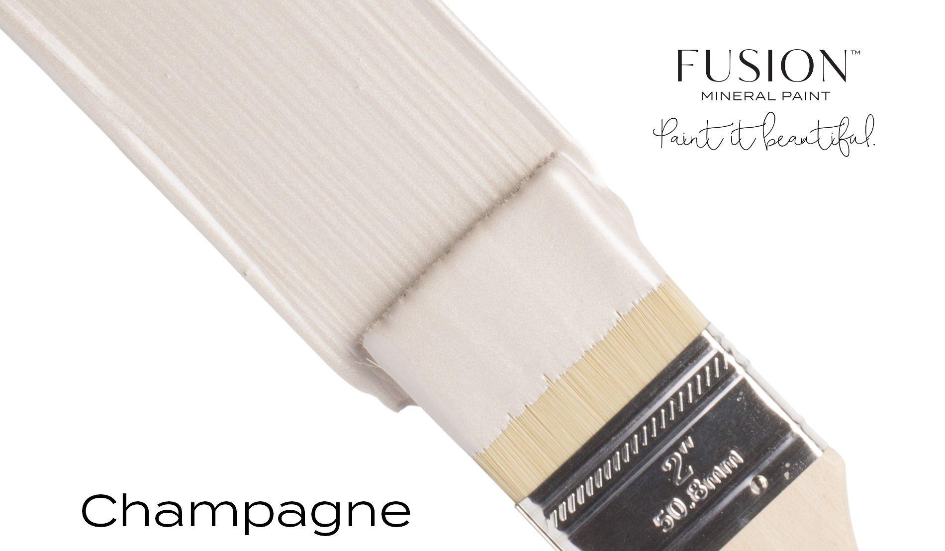 Fusion Mineral Paint Brushstroke - Metallic Champagne | www.raggedy-bits.com