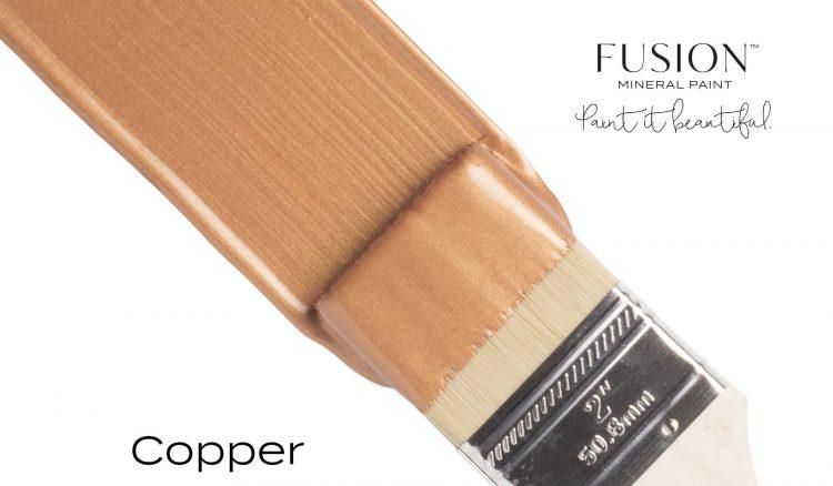 Fusion Mineral Paint Brushstroke - Metallic Copper | www.raggedy-bits.com