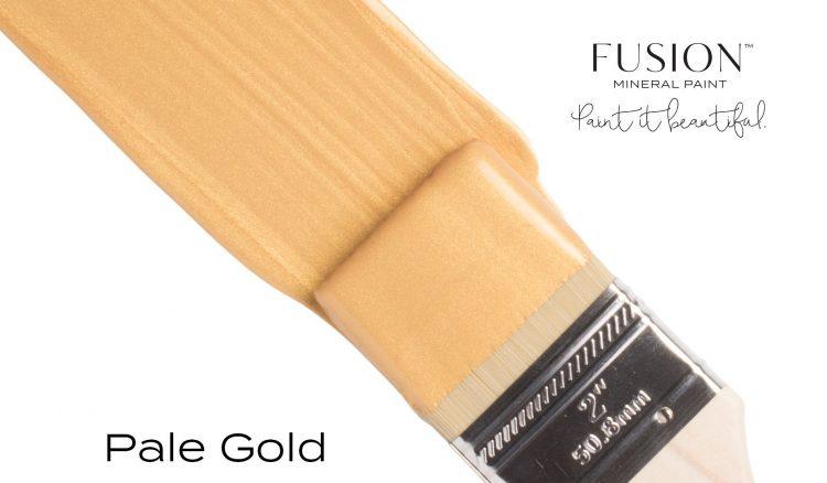 Fusion Mineral Paint Brushstroke - Metallic Pale Gold | www.raggedy-bits.com