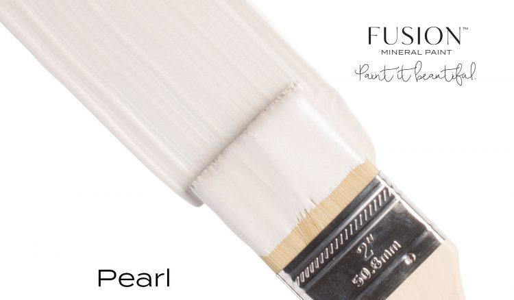 Fusion Mineral Paint Brushstroke - Metallic Pearl | www.raggedy-bits.com