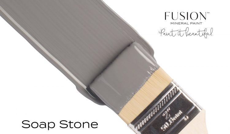 Fusion Mineral Paint Brushstroke - Soapstone   www.raggedy-bits.com