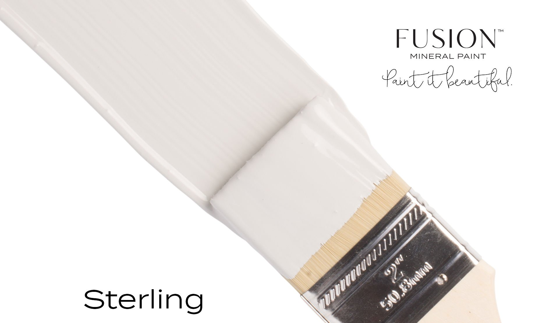 Fusion Mineral Paint Brushstroke - Sterling | www.raggedy-bits.com
