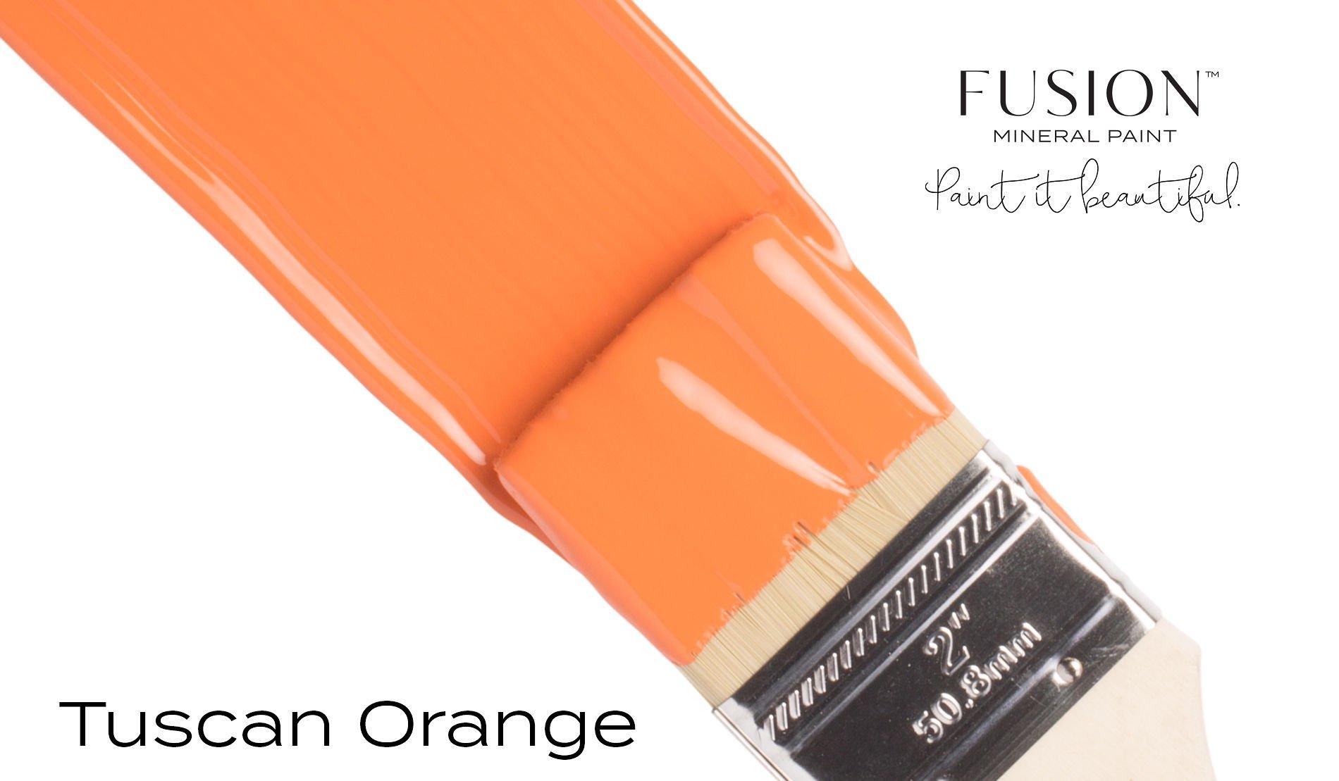 Fusion Mineral Paint Brushstroke - Tuscan Orange | www.raggedy-bits.com