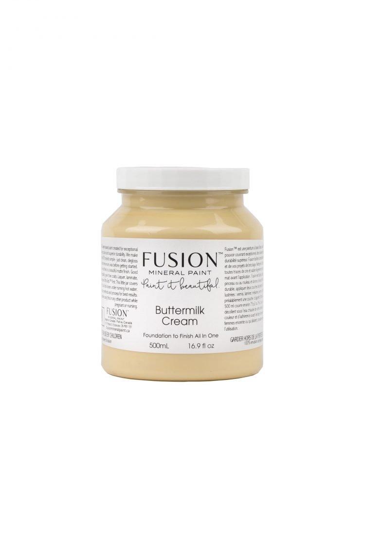 Fusion Mineral Paint - Butter Milk Cream   www.raggedy-bits.com