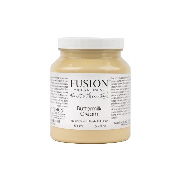 Fusion Mineral Paint - Butter Milk Cream | www.raggedy-bits.com