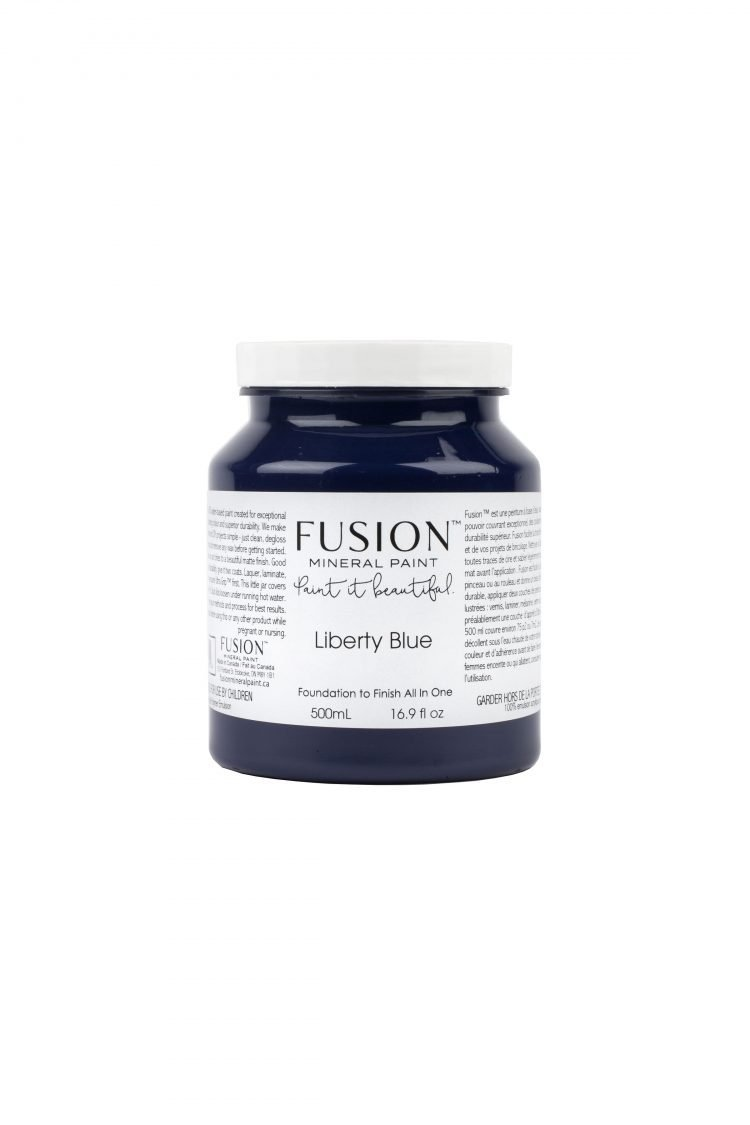 Fusion Mineral Paint - Liberty Blue | www.raggedy-bits.com