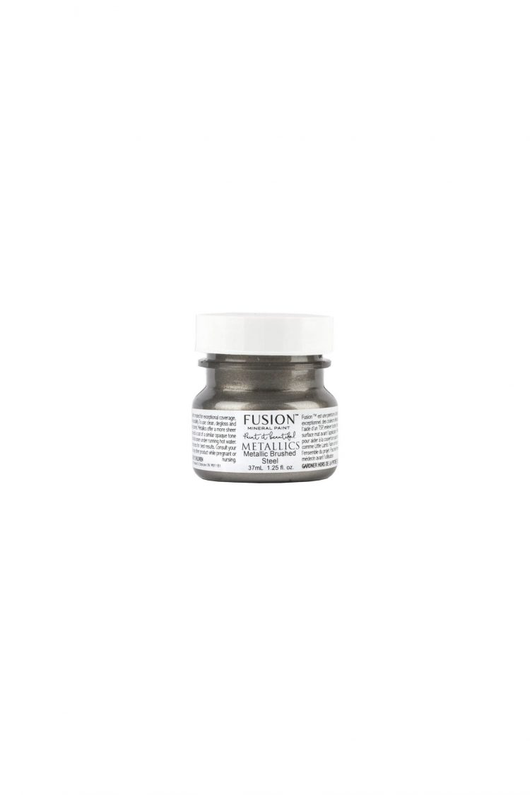 Fusion Mineral Paint Tester - Metallic Brushed Steel | www.raggedy-bits.com
