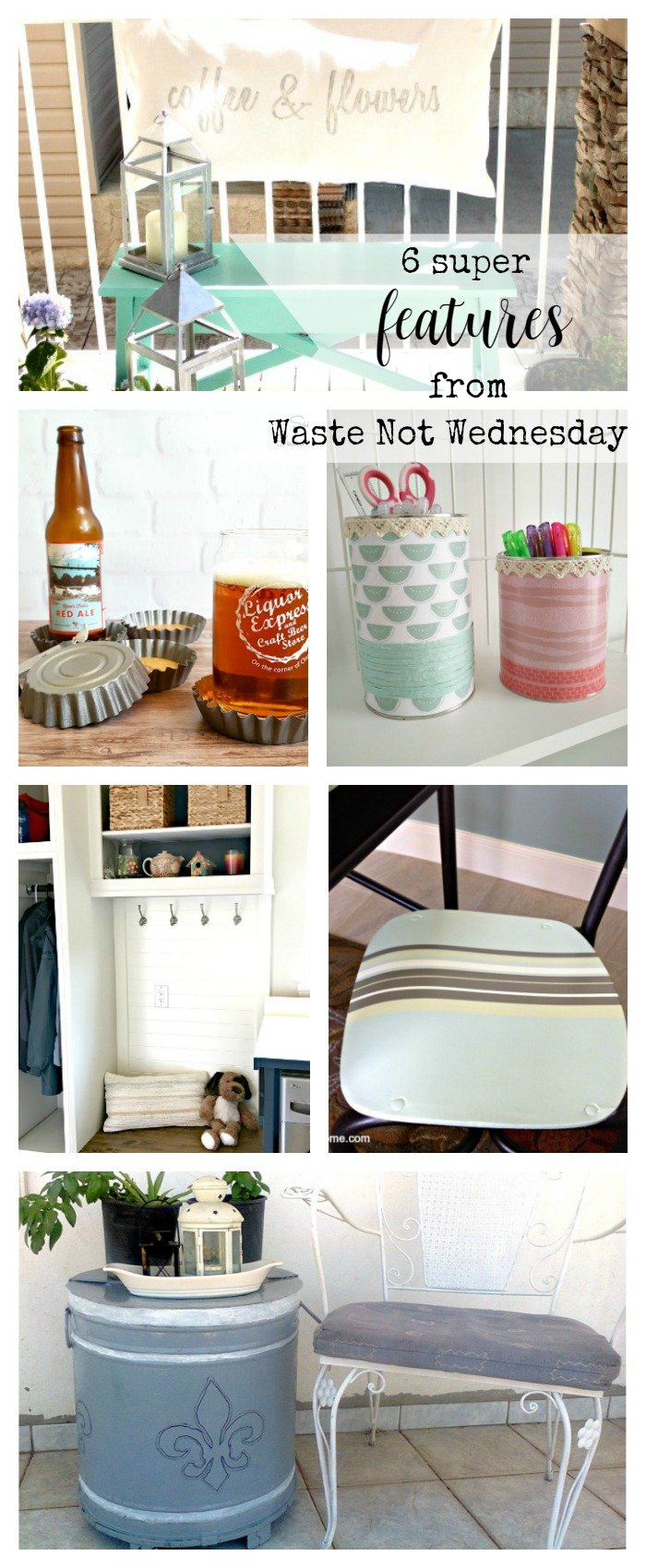 Features from our fun Waste Not Wednesday-54 DIY, Craft, Home Decor and Recipe party this week! Be sure to join us and share your DIY, Craft, Home Decor and favourite recipes! | www.raggedy-bits.com | www.mythriftyhouse.com | www.gratefullyvintage.com | www.salvagesisterandmister.com | www.reinventedkb.com