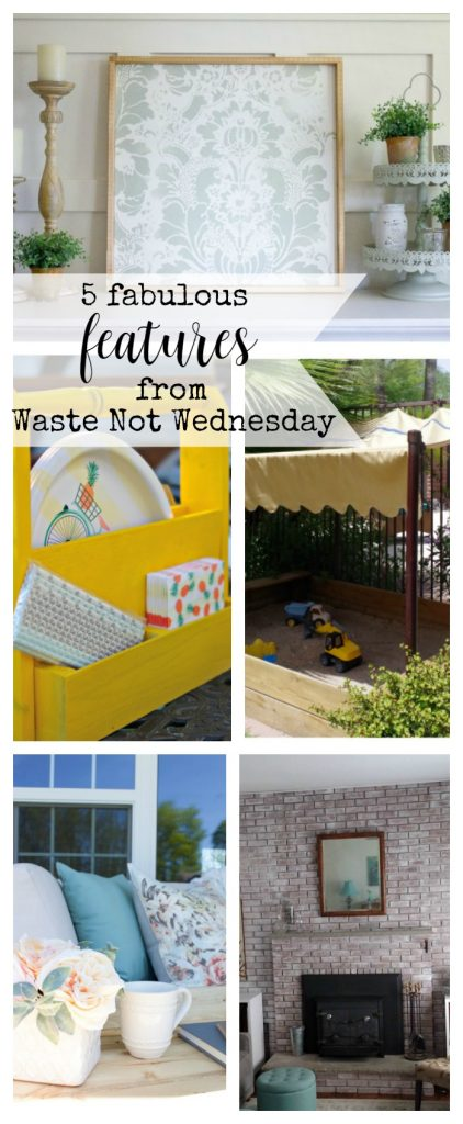 Features from our fun Waste Not Wednesday-55 DIY, Craft, Home Decor and Recipe party this week! Be sure to join us and share your DIY, Craft, Home Decor and favourite recipes! | www.raggedy-bits.com | www.mythriftyhouse.com | www.salvagesisterandmister.com | www.reinventedkb.com