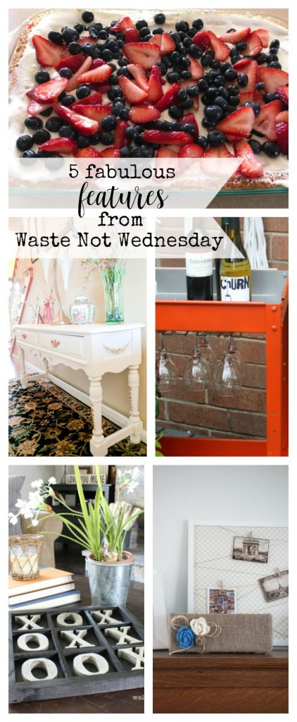 Features from our fun Waste Not Wednesday-59 DIY, Craft, Home Decor and Recipe party this week! Be sure to join us and share your DIY, Craft, Home Decor and favourite recipes! | www.raggedy-bits.com | www.mythriftyhouse.com | www.salvagesisterandmister.com | www.reinventedkb.com