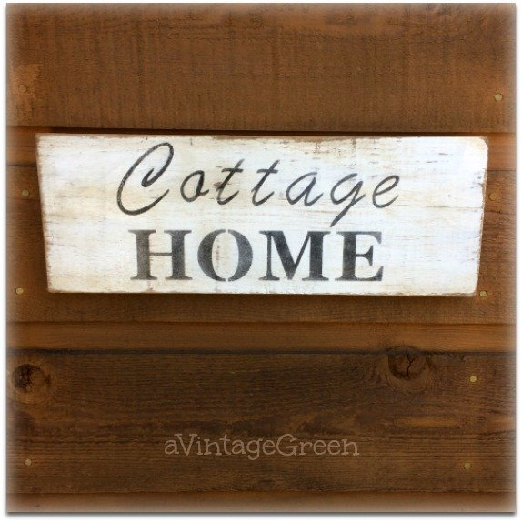Slice Cricut Cottage Sign which is a feature from Waste Not Wednesday-60 by A Vintage Green | www.raggedy-bits.com