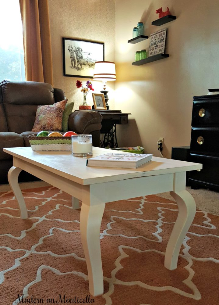 $20 Coffee Table Project which is a feature from Waste Not Wednesday-61 by Modern on Monticello | www.raggedy-bits.com
