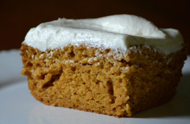 Perfect Pumpkin Bars which is a feature from Waste Not Wednesday-64 by My Family Thyme | www.raggedy-bits.com