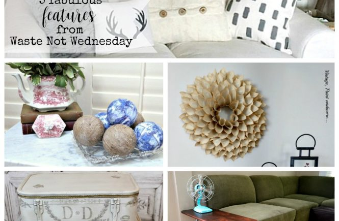 Features from our fun Waste Not Wednesday-63 DIY, Craft, Home Decor and Recipe party this week! Be sure to join us and share your DIY, Craft, Home Decor and favourite recipes! | www.raggedy-bits.com | www.mythriftyhouse.com | www.salvagesisterandmister.com | www.reinventedkb.com