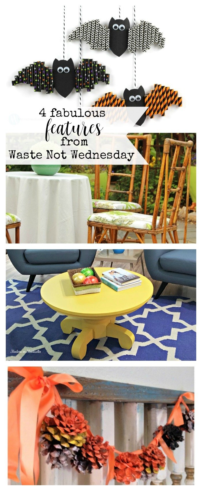 Features from our fun Waste Not Wednesday-69 DIY, Craft, Home Decor and Recipe party this week! Be sure to join us and share your DIY, Craft, Home Decor and favourite recipes! | www.raggedy-bits.com | www.mythriftyhouse.com | www.salvagesisterandmister.com |