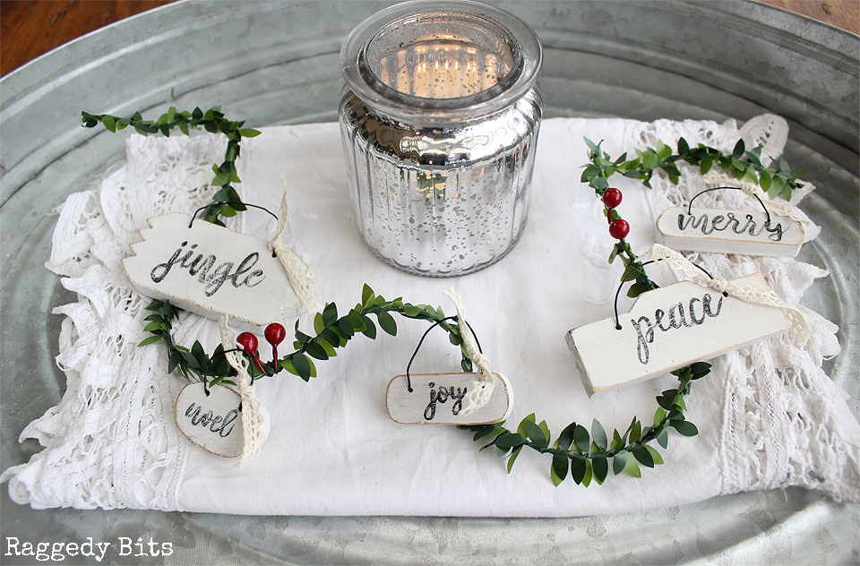 Rustic Farmhouse Wooden Christmas Ornaments