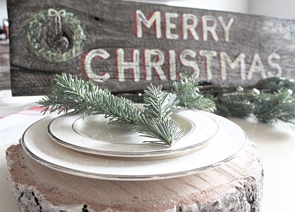 Why you won't see a Christmas Tree on this Christmas Home Tour which is a feature from Waste Not Wednesday-79 by Repurposed and Upcycled | www.raggedy-bits.com