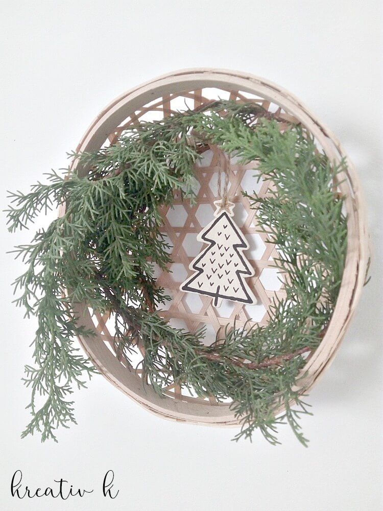 5 Minute Nordic Christmas Wreath which is a feature from Waste Not Wednesday-79 by Kreativ K | www.raggedy-bits.com