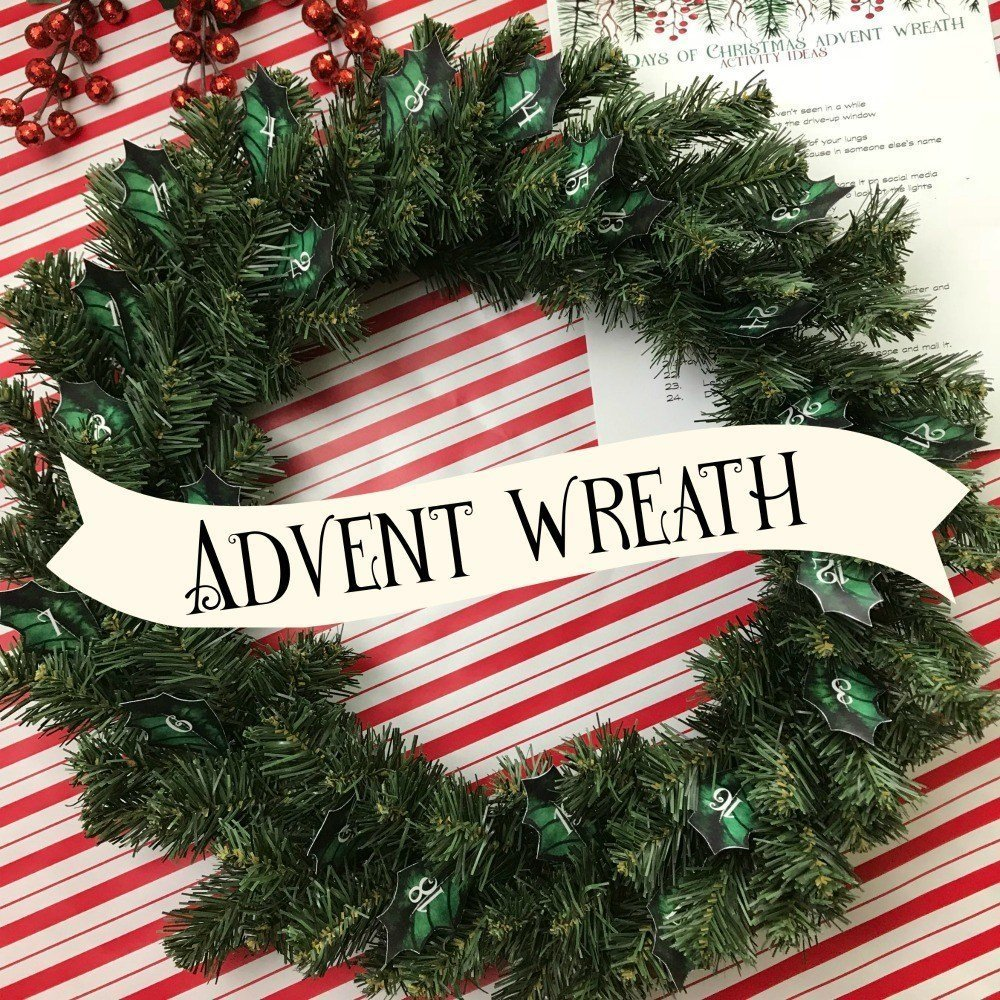 Advent Calendar Wreath which is a feature from Waste Not Wednesday-82 by Blowing Away Out West | www.raggedy-bits.com