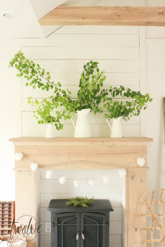 DIY Faux Farmhouse Style Fireplace and Mantelwhich is a feature from Waste Not Wednesday-86 by Twelve On Main | www.raggedy-bits.com