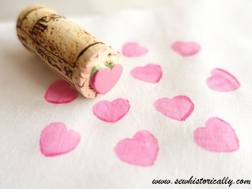 DIY Cork & Craft Foam Stamp which is a feature from Waste Not Wednesday-88 by Sew Historically | www.raggedy-bits.com