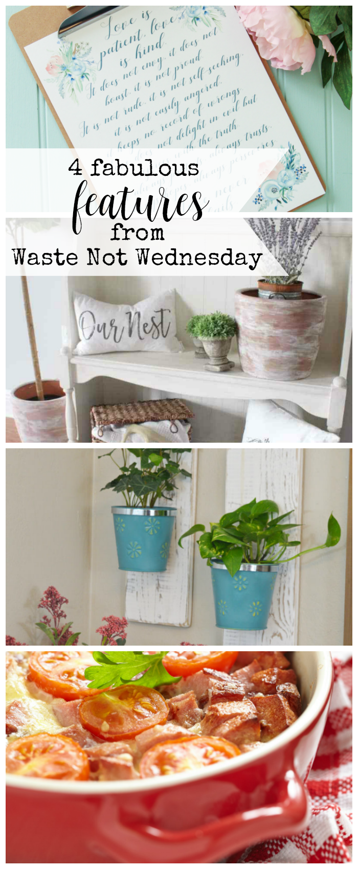 Features from our fun Waste Not Wednesday-90 DIY, Craft, Home Decor and Recipe party this week! Be sure to join us and share your DIY, Craft, Home Decor and favourite recipes! | www.raggedy-bits.com | www.mythriftyhouse.com | www.salvagesisterandmister.com | #WasteNotWednesday #DIY #HomeDecor #Craft #Recipes