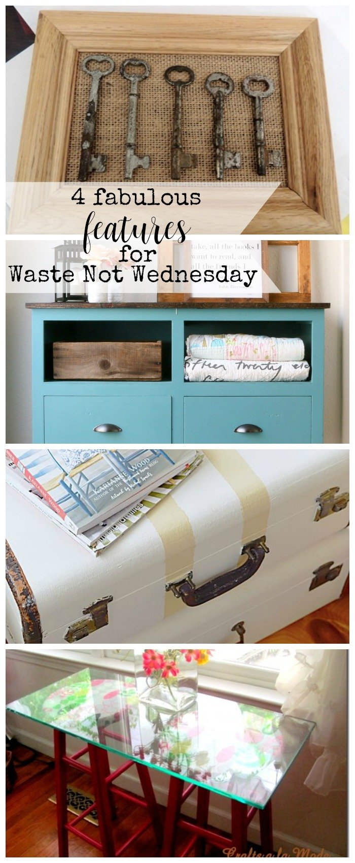 Features from our fun Waste Not Wednesday-92 DIY, Craft, Home Decor and Recipe party this week! Be sure to join us and share your DIY, Craft, Home Decor and favourite recipes! | www.raggedy-bits.com | www.mythriftyhouse.com | www.salvagesisterandmister.com | #WasteNotWednesday #DIY #HomeDecor #Craft #Recipes