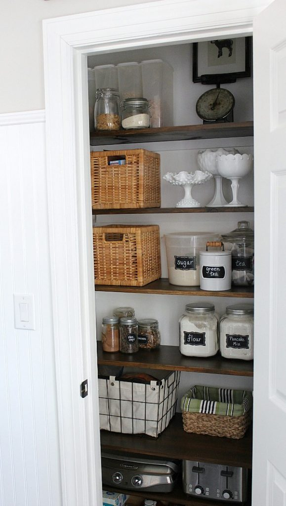 Farmhouse Pantry Makeover Reveal is a feature from Waste Not Wednesday-94 by A Noting Grace | www.raggedy-bits.com