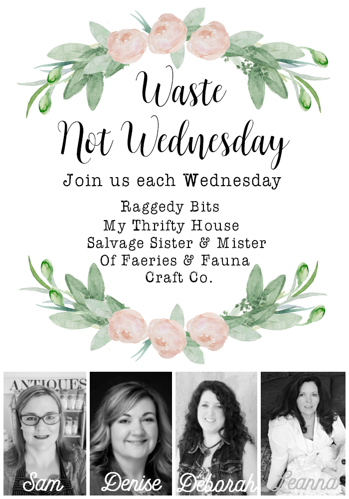 Join us each Wednesday for Waste Not Wednesday and share all your DIY and Craft Projects, Home Decor and yummy recipes | www.raggedy-bits.com