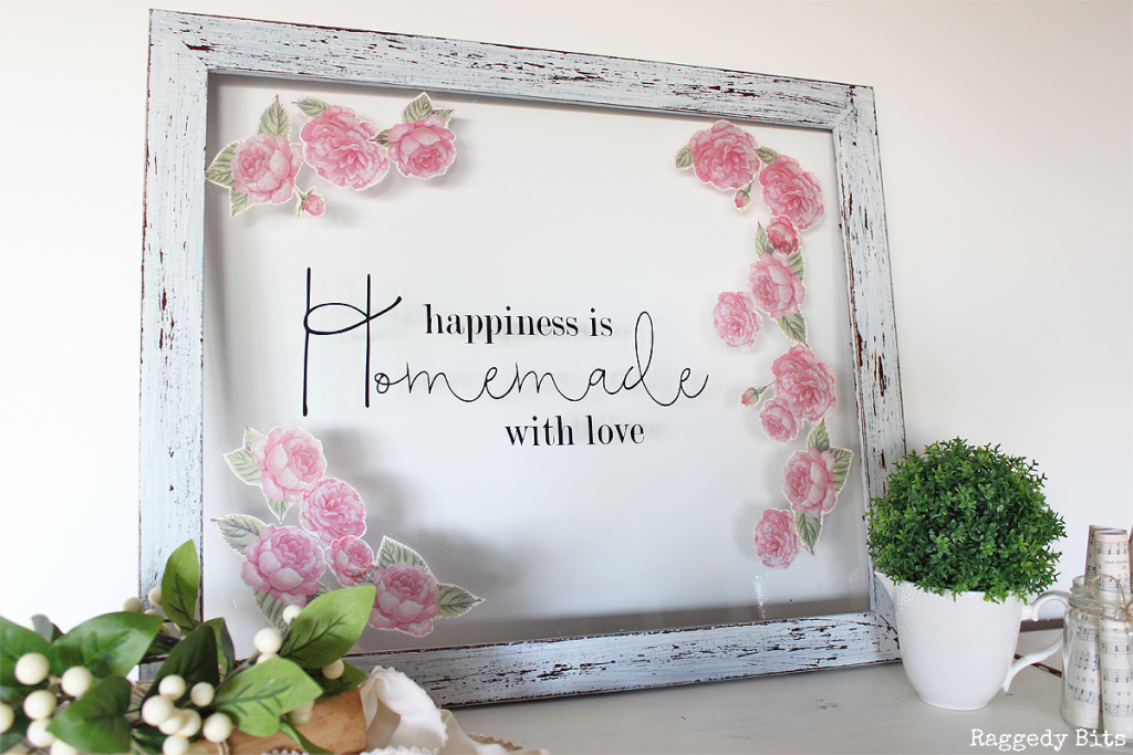Farmhouse Tissue Paper Frame