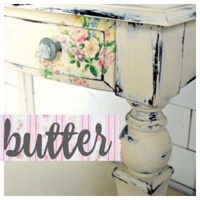 Sweet Pickins Milk Paint - Butter | www.raggedy-bits.com | #raggedybits #paintsupplier #milkpaint #paintedfurniture #butter