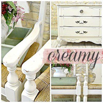 Sweet Pickins Milk Paint - Creamy | www.raggedy-bits.com | #raggedybits #paintsupplier #milkpaint #paintedfurniture #creamy