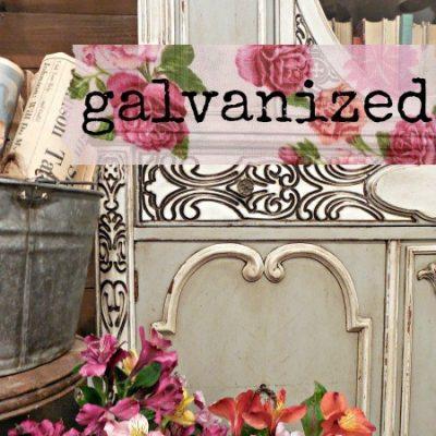 Sweet Pickins Milk Paint - Galvanized | www.raggedy-bits.com | #raggedybits #paintsupplier #milkpaint #paintedfurniture #galvanized
