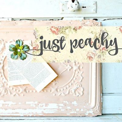 Sweet Pickins Milk Paint - Just Peachy | www.raggedy-bits.com | #raggedybits #paintsupplier #milkpaint #paintedfurniture #justpeachy