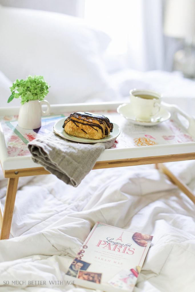 Mother's Day Breakfast In Bed Tray with Kids Art is a feature from Waste Not Wednesday-101 by So Much Better With Age   www.raggedy-bits.com