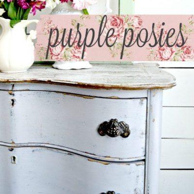 Sweet Pickins Milk Paint - Purple Posie | www.raggedy-bits.com | #raggedybits #paintsupplier #milkpaint #paintedfurniture #purpleposie