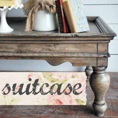 Sweet Pickins Milk Paint - Suitcase | www.raggedy-bits.com | #raggedybits #paintsupplier #milkpaint #paintedfurniture #suitcase