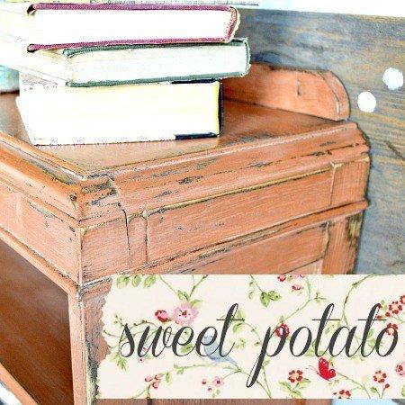 Sweet Pickins Milk Paint - Sweet Potato   www.raggedy-bits.com   #raggedybits #paintsupplier #milkpaint #paintedfurniture #sweetpotato