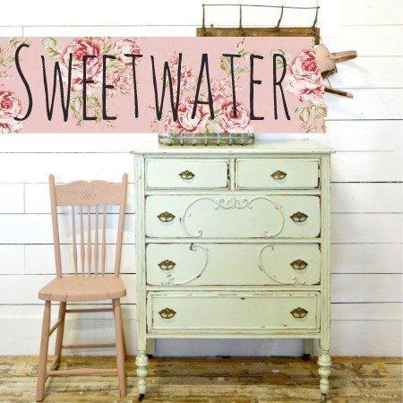 Sweet Pickins Milk Paint - Sweetwater | www.raggedy-bits.com | #raggedybits #paintsupplier #milkpaint #paintedfurniture #sweetwater