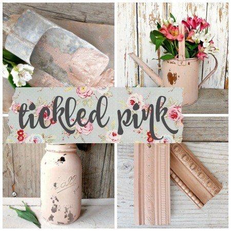 Sweet Pickins Milk Paint - Tickled Pick | www.raggedy-bits.com | #raggedybits #paintsupplier #milkpaint #paintedfurniture #tickledpink