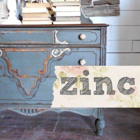 Sweet Pickins Milk Paint - Zinc | www.raggedy-bits.com | #raggedybits #paintsupplier #milkpaint #paintedfurniture #zinc