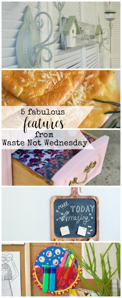 Features from our fun Waste Not Wednesday-113 DIY, Craft, Home Decor and Recipe party this week! Be sure to join us and share your DIY, Craft, Home Decor and favourite recipes! | www.raggedy-bits.com | www.mythriftyhouse.com | www.salvagesisterandmister.com | www.faeriesandfauna.com #WasteNotWednesday #DIY #HomeDecor #Craft #Recipes