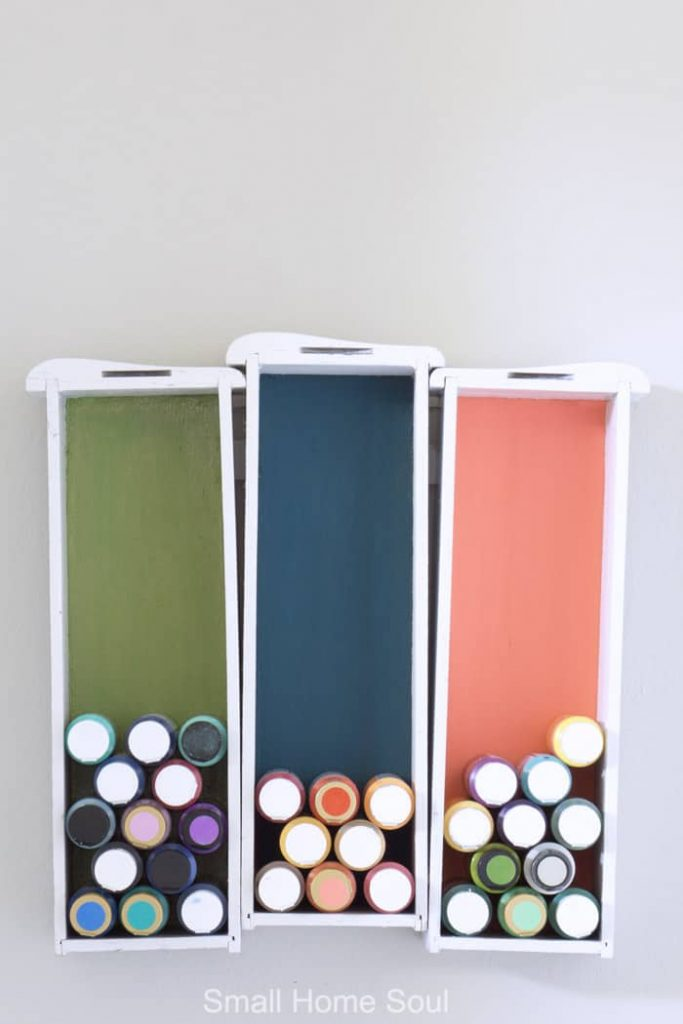 Creative Craft Paint Storage which is a feature for Waste Not Wednesday-113 by Small Home Soul | www.raggedy-bits.com