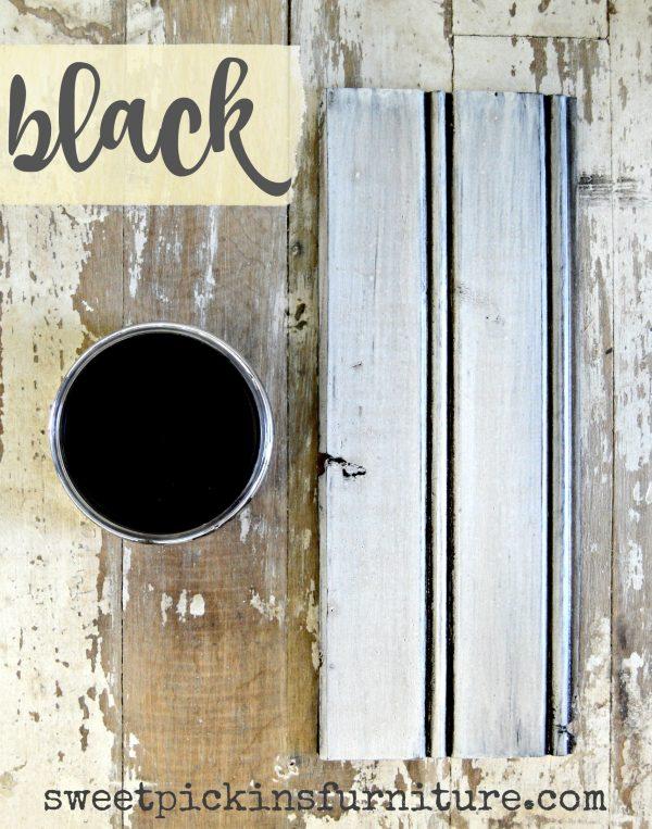 Sweet Pickins Milk Paint - Black Wax | www.raggedy-bits.com | #raggedybits #paintsupplier #milkpaint #paintedfurniture #blackwax