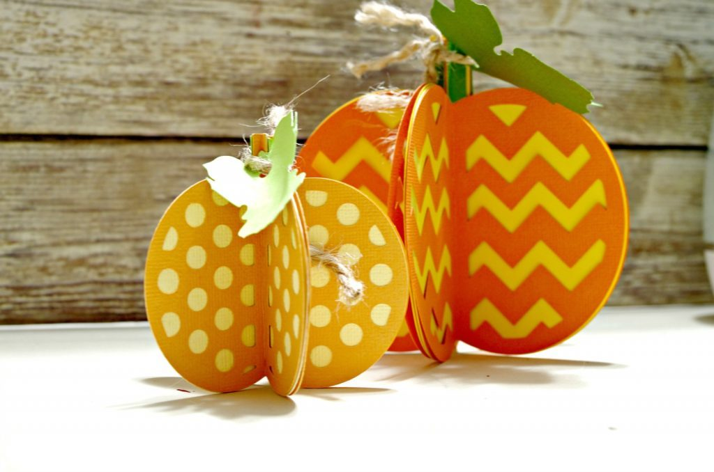 Pretty Paper Pumpkins which is a feature for Waste Not Wednesday-121 by Create and Babble | www.raggedy-bits.com