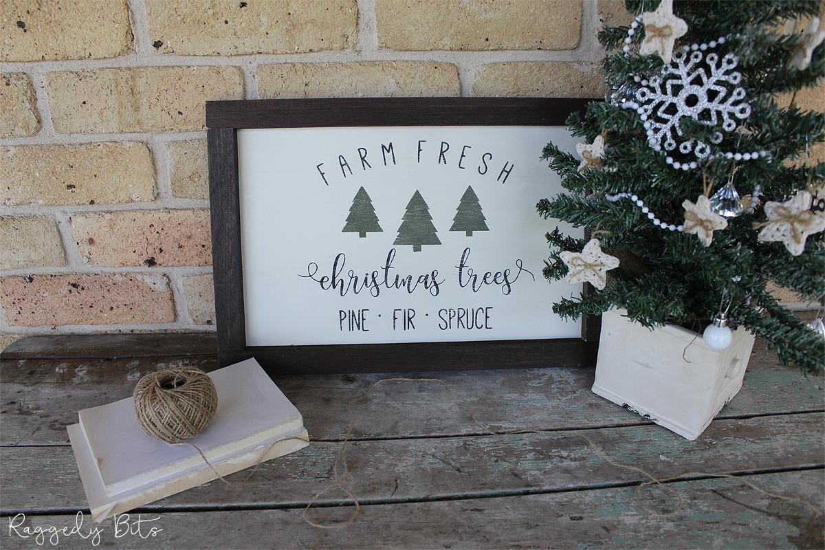 Fresh Cut Christmas Trees Near Me.Fresh Cut Christmas Tree Farmhouse Sign Raggedy Bits
