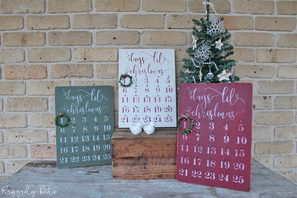How To Make A Double Sided Farmhouse Christmas Advent Calendar